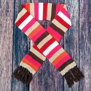 💜 Kids Gap 💜 Colorful Girls Scarf, Pink, White